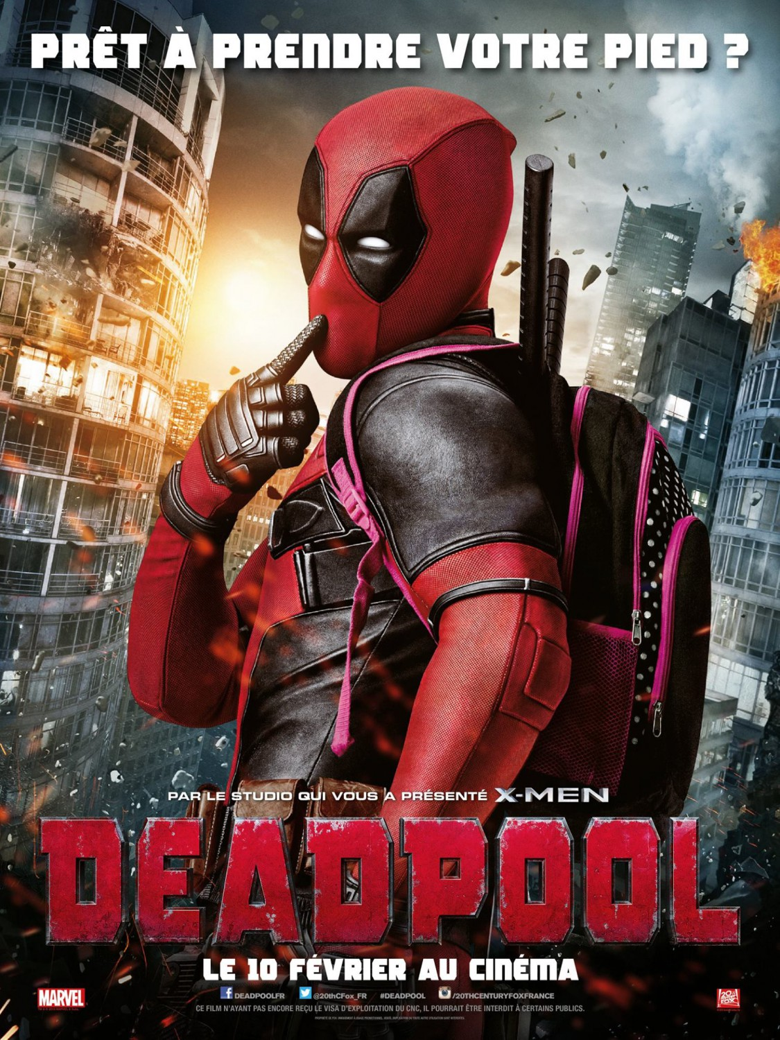 Deadpool International Theatrical One Sheet Teaser Movie Poster